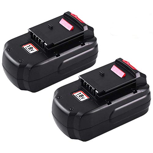 [Upgraded to 3600mAh] 3.6Ah Ni-MH PC18B Replace for Porter Cable 18V Battery PCC489N PCMVC PCXMVC PORTER-CABLE PC18B-2 18-Volt Cordless Tools Batteries 2 Packs