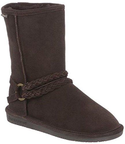 BEARPAW Womens Adele Snow Boot, Chocolate II, Size 9 ()