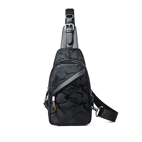 Qidi T Bags 2 Chest color T Fashion Polyester Men 1 Pack Oblique Cross Shoulder ppW81vrPn