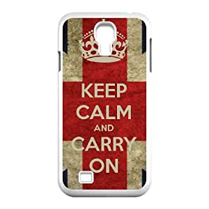 Samsung Galaxy S4 9500 Cell Phone Case White Keep Calm Carry On 001 HY2461369