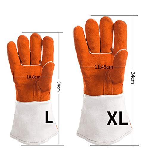 Amazon.com: DUDDP Gloves Guantes de soldadura eléctricos Guantes ...