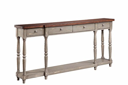 Stein World Furniture 4 Drawer Console, French Gray