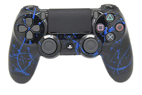 Hand Airbrushed Color Burst Playstation 4 Custom Controller (Blue)