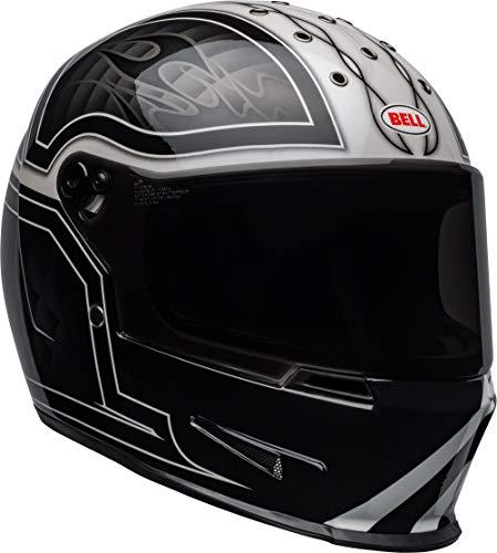 Bell Eliminator Street Motorcycle Helmet (Gloss Outlaw Gloss Black/White, Large)