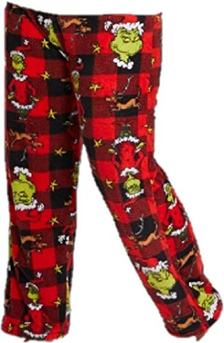 (Dr Suess Womens' Grinch who Stole Christmas Sleep Pants Large Green)
