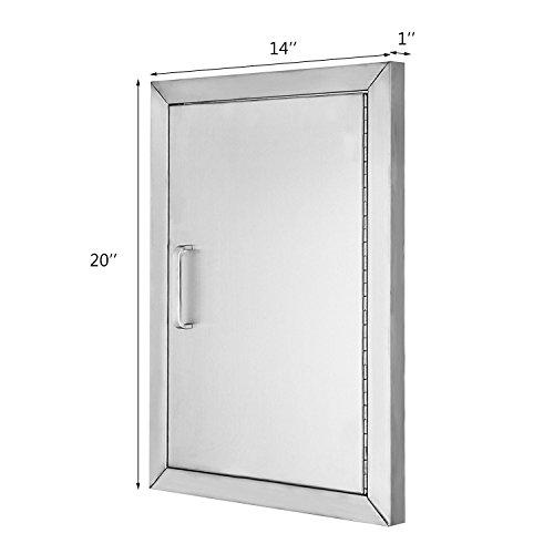 OrangeA BBQ Door 304 Commercial Grade Stainless Steel Cutout 14