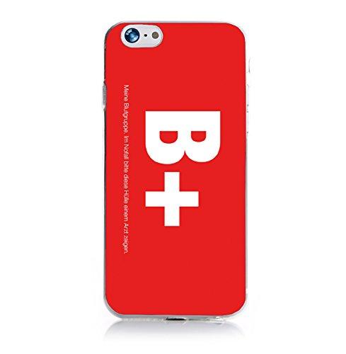 ArktisPRO Blutgruppe B+ Hülle für Apple iPhone 6 rot