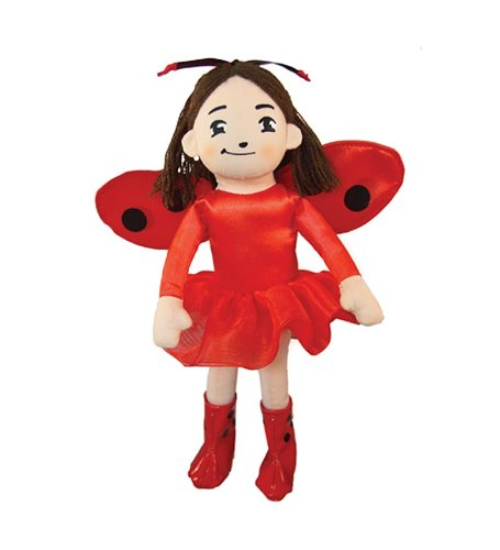 Plush Little Ladybug (MerryMakers Ladybug Girl Plush Doll, 10-Inch)