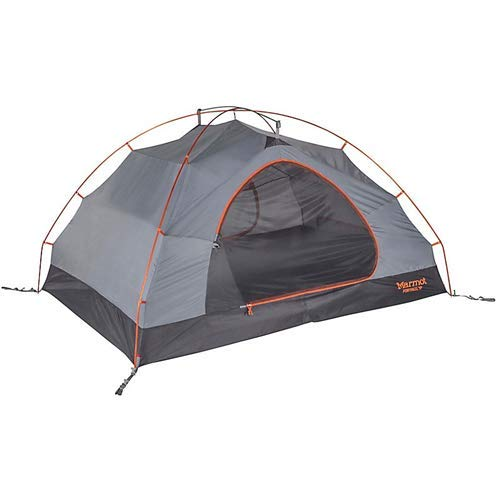 Marmot Fortress 3 Person Backpacking Tent - 3 Person - Tangelo/Grey Storm