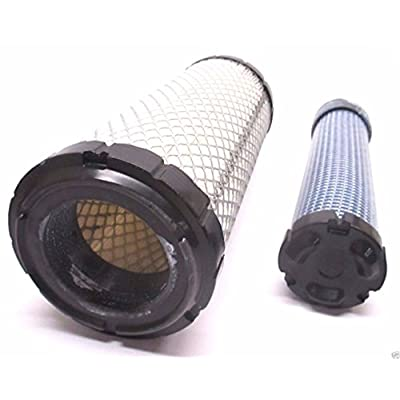 Kawasaki Genuine 11013-7044 & 11013-7045 Inner & Outer Air Filter Combo OEM: Garden & Outdoor