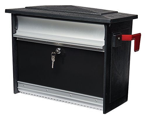 Gibraltar Mailboxes Mailsafe Medium Capacity Aluminum Black, Wall-Mount Mailbox, MSK00000