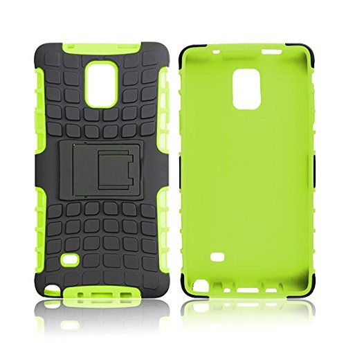 roocase Galaxy Note 4 Case - roocase [BLOK Armor] Note 4 Hybrid Dual Layer Rugged Tough Case Cover with Kickstand roocase Made for Samsung Galaxy Note 4, Green