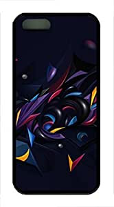 iPhone 5 5S Case 3D Abstract Chaos Color TPU Custom iPhone 5 5S Case Cover Black