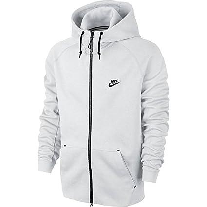 Nike Tech Fleece Aw77 - Sudadera para hombre, color blanco/negro, talla XS