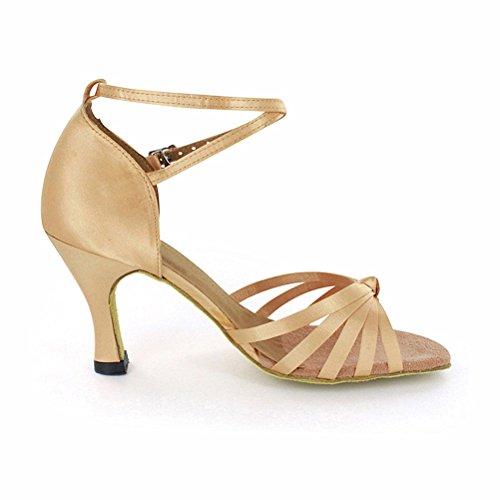 LOVELY BEAUTY Ladys Ballroom Dance Shoes for Chacha Latin Salsa Rumba Practice ESaJI