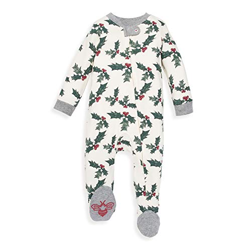 Halloween 2019 Coveralls (Burt's Bees Baby Unisex Baby Sleep & Play, Organic Pajamas, NB-9M One-Piece Zip Up Footed PJ Jumpsuit, Happy Holly, 0-3)