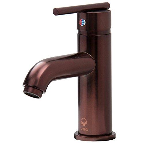 VIGO VG01038RB Setai Single Handle Bathroom Faucet, Single-Hole Deck-Mount Lavatory Faucet, Premium Seven Layer Oil Rubbed Bronze Finish