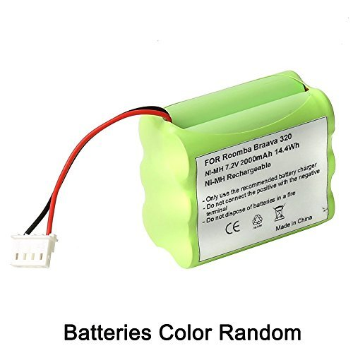 7.2v Ni-Mh Mint 4200 4205 GPHC152M07 Battery Replacement for iRobot Braava 320 321 Mint 4200 4205 Floor Cleaner Robot 4408927 - Mint Cleaner