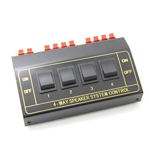 Ancable 4 Way Pair Stereo Speaker Selector Switcher Splitter Switch ()