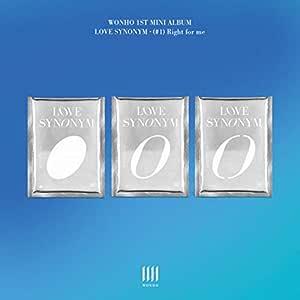 WONHO LOVE SYNONYM #1. RIGHT FOR ME 1st Mini Album VER.2 CD+Photo Book+Card+Pre-Order+TRACKING CODE K-POP SEALED