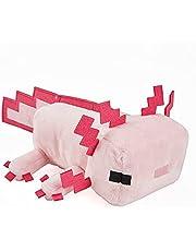 Minecraft HBT42 - Axolotl pluche figuur, ca. 21 cm, zacht, collecteerbaar cadeau voor fans, 3 jaar en ouder