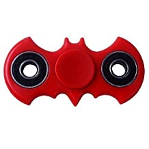 Red Batman Fidget Spinner Helps Focusing Fidget Toys Premium Quality Focus Toy for Kids & Adults From Function Labs- Best Stress Reducer Relieves ADHD ADD Anxiety and Boredom Ceramic Cube Bearing