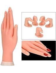 Adjustable Practice Nail Art Trainer Training Hand Tool + 5 Fake Finger Model