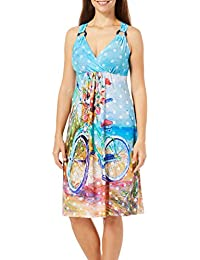 Womens Beachin Ride Ring Accent Sundress
