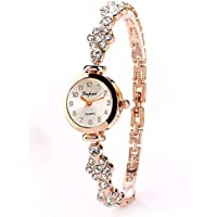 Women Watch, Small Dial Stainless Steel Brief Wrist Watch, Rhinestone Crystal Band Watch for Women