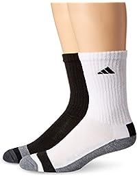Men's Athletic Crew Socks (6-Pack) (Black/White) Shoe Size 6-12