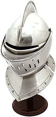 Whetstone 22-9900 Cutlery Medieval Knight's Helmet-Full Size Armor Helmet (Sil