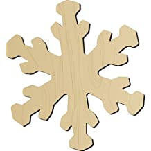 Darice 9171-80 Natural Unfinished Wood Craft Snowflake Shape Cutout