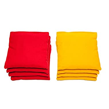 Weather Resistant Cornhole Bags (Set of 8) by SC Cornhole (Red/Yellow)