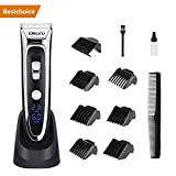 Hair Clippers YOHOOLYO Hair Trimmer for Men with 7 Combs Electric Haircut Kit Ceramic Blade LED Display Rechargeable Battery