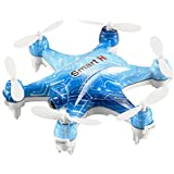 Dwi Dowellin RC Mini Drone with Camera 480P Remote Control/Mobile Phone Control for iOS/Android APP Wifi FPV RC Helicopter Altitude Hold RTF Quadcopter Cheerson CX-37-TX Blue