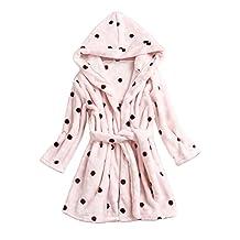 Children Robe Kids Flannel Bathrobe Black Spots Sleepwear