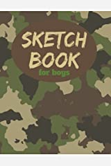 """Sketch Book For Boys: 8.5"""" x11"""", Blank Paper for Drawing, Arts and Crafts Drawing Pad for Sketching and Doodling Paperback"""