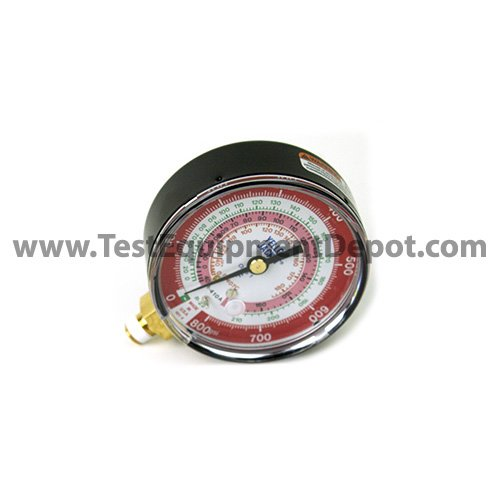 degrees C and degrees F Fotronic Corporation R-410A Yellow Jacket 49142 Low Side Replacement Gauge