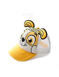 paw patrol Kids Summer Baseball Cap Mesh Back Breathable Cotton Age 2~10 Rubble yellow