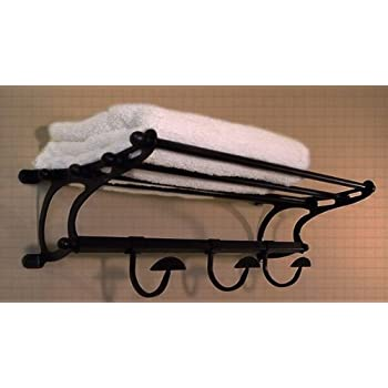 hotel style towel shelf rack medium size oil rubbed bronze train robe hooks moen yb2894orb eva bar with