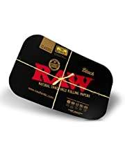 RAW Black Tray Cover   Size - Large   Magnetic Cover to Help Store Tray Contents Quickly   No More Lost Lighters