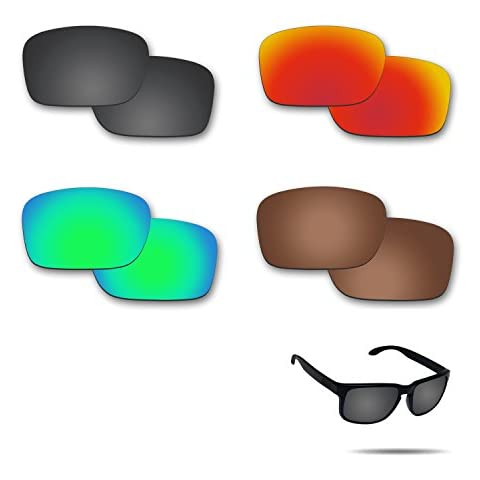 2b5ac10ee Fiskr Anti-saltwater Polarized Replacement Lenses for Oakley Holbrook  Sunglasses 4 Pairs