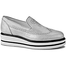 Hogan Women's Laminated Calf Leather Slip-Ons Shoes