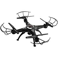 Owill 2.4G 4CH 6-Axis FPV RC Drone Quadcopter 2.0M Wifi Camera Real Time Video 2 Control Modes (Black)