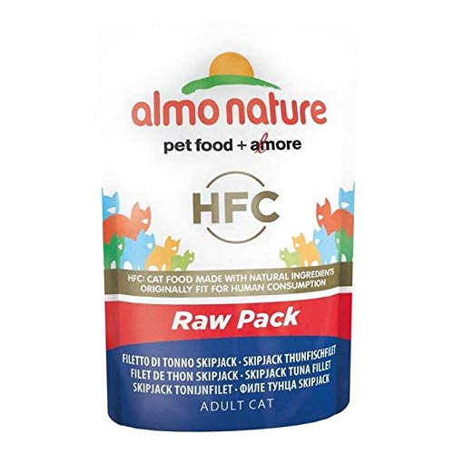 Almo Nature HFC Raw Pack Skip Jack Tuna Fillet Cat Pouch 24 x 55g