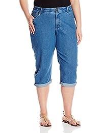 Women's Plus-Size Comfort Waist Cuff Capri