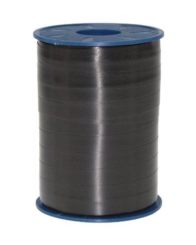 C.E. PATTBERG Geschenkband schwarz, 250 Meter Ringelband 10 mm zum Basteln, Dekorieren & Verpacken von Geschenken zu jedem Anlass