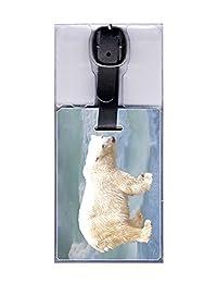 Lenticular Polar Bear 3D Moving Image Travel Luggage Tag