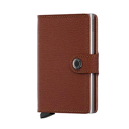 (Secrid Mini Wallet Leather Amber Crisple)