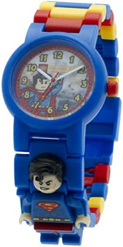 LEGO DC Comics Super Heroes Superman Kids Minifigure Link Buildable Watch | blue/red | plastic | 28mm case diameter| analog quartz | boy girl | official
